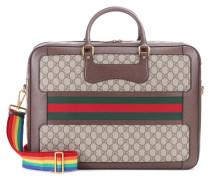 Reisetasche aus Canvas und Leder