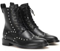 Boots Hanah Flat aus Leder