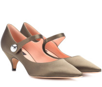 Mary-Jane-Pumps aus Satin