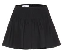 Shorts aus Wolle und Seide