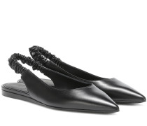 Slingback-Ballerinas aus Leder