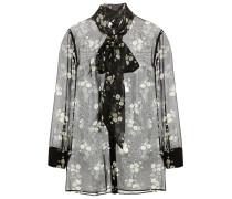 Bedruckte Bluse aus Seidenchiffon