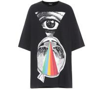 Oversize T-Shirt aus Baumwolle mit Print