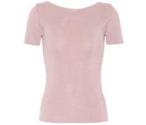 T-Shirt Fennec aus Metallic-Strick