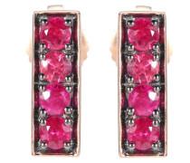 Ohrringe aus 18kt Roségold mit Rubinen
