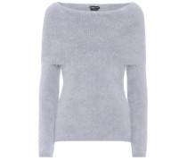Schulterfreier Pullover aus Angora