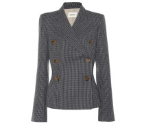 Karierter Tweed-Blazer Cathy aus Wolle