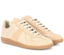 Sneakers Replica aus Leder und Veloursleder