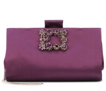 Clutch Soft Flower Buckle aus Satin