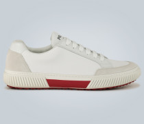 Sneakers aus Veloursleder und Nylon