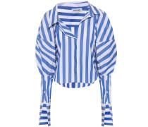 Gestreifte Bluse aus einem Baumwollgemisch