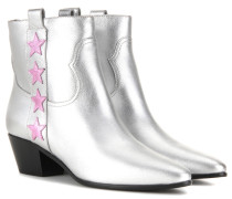 Ankle Boots Rock 40 aus Metallic-Leder
