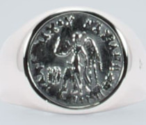 Ring Coin Angel aus Sterlingsilber
