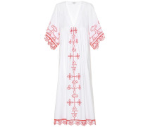 Besticktes Kleid Peony aus Baumwolle