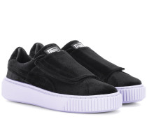 Sneakers Basket Platform aus Samt