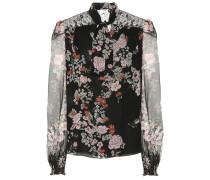 Bedruckte Bluse aus Seiden-Chiffon