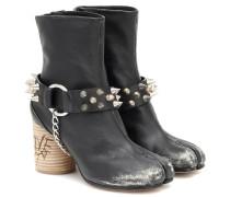 Verzierte Ankle Boots Tabi aus Leder