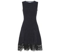 Tweed-Minikleid mit Guipure-Spitze