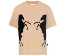 Beflocktes T-Shirt aus Baumwolle