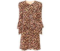 Bedrucktes Kleid Poppy aus Samt