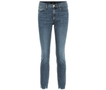 Mid-Rise W2 Cropped Skinny Jeans