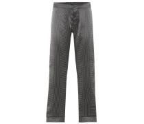 Bedruckte Hose aus Seidensatin
