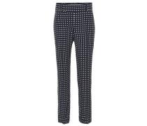 Verkürzte Hose mit Polka-Dots