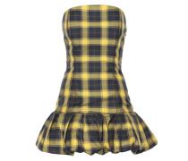 Kariertes Minikleid aus Baumwolle
