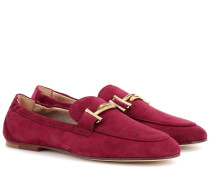 Loafers Double T aus Veloursleder