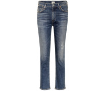 High-Rise Cropped Jeans Cara