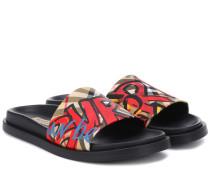 Bedruckte Sandalen aus Baumwolle