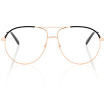Brille Aviator Matte Rose