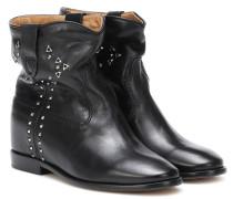Verzierte Ankle Boots Cluster aus Leder