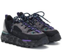 Plateau-Sneakers mit Veloursleder