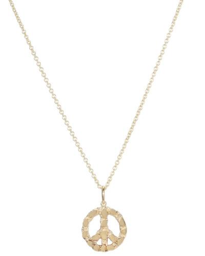 Halskette Small Peace aus 14kt Gelbgold