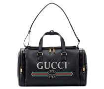 Bedruckte Reisetasche aus Leder
