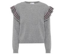 Pullover mit Volants aus Wolle