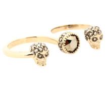 Alexander McQueen Ring mit Swarovski-Kristallen