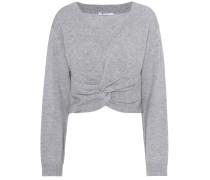 Cropped Pullover aus Wolle und Cashmere