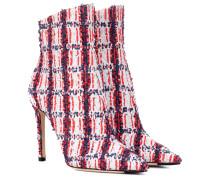 Exklusiv bei Mytheresa – Ankle Boots Helaine 100 aus Tweed
