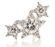 Einzelner Ohrring Diamond Star Trinity Traditional aus 18kt Weißgold