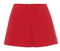 High-Rise Shorts aus Crêpe