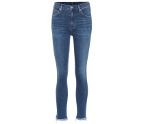 High-Rise Skinny Jeans Rocket Crop