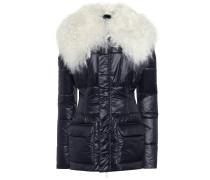 Jacke mit Faux Fur und Leder