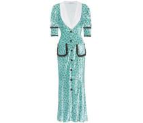 Bedrucktes Kleid aus Samt