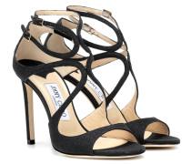 Sandalen Lang aus Leder mit Glitter