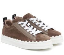 Sneakers Lauren aus Veloursleder