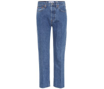 High-Rise Jeans Stovepipe