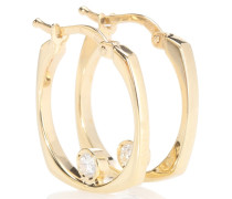 Ohrringe Aro B aus 9kt Gelbgold mit weißem Diamant
