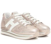 Sneakers H222 aus Metallic-Leder